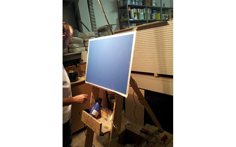 dimostrazione tecnica di pittura