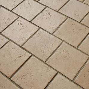 Tan colour floor tiles