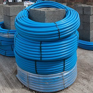 Coil of plumbing hose