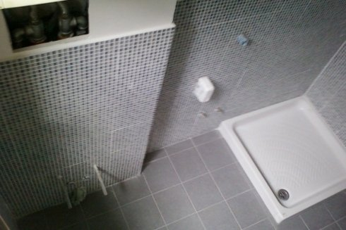 vista dall`alto di un box doccia