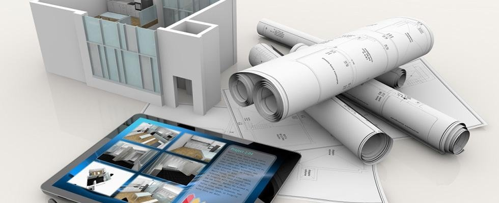 disegni edili con edificio e progetto tecnico
