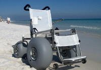 beach wheelchair with grey wheels