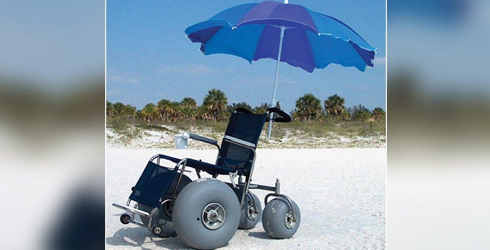 Beach Wheelchair With Umbrella