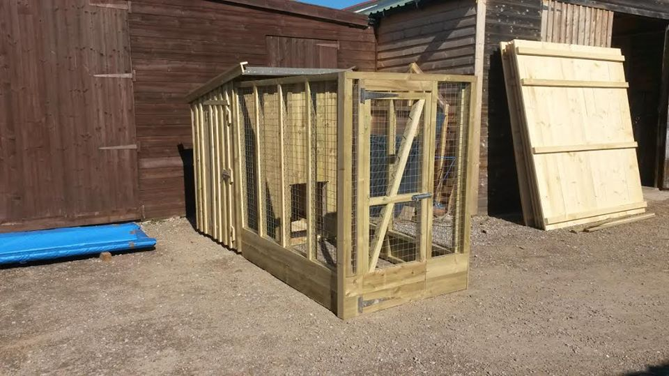 kennel with secure run