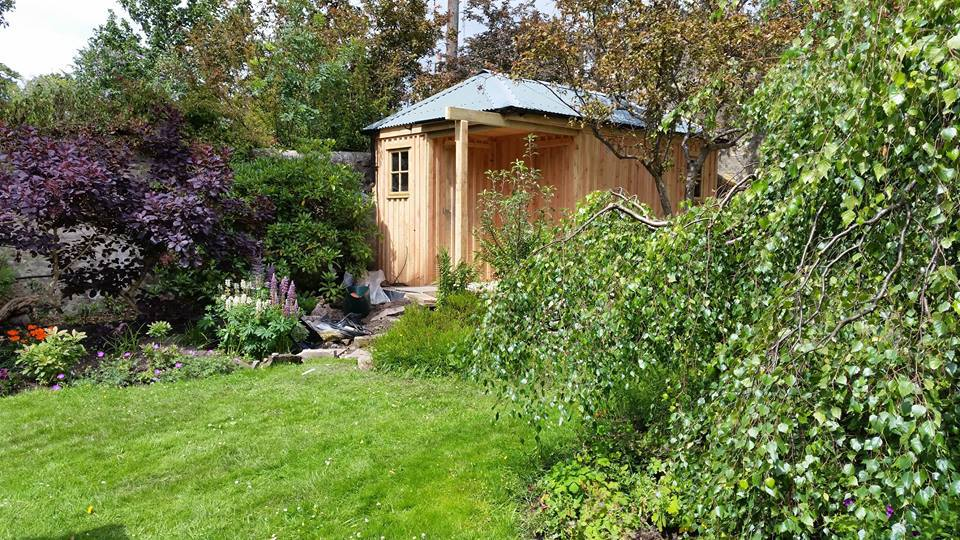secluded garden shed
