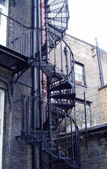 metal winding staircase