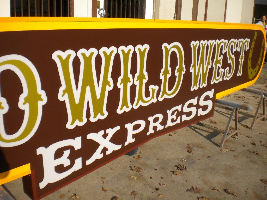 dettaglio cartellone old wild west express