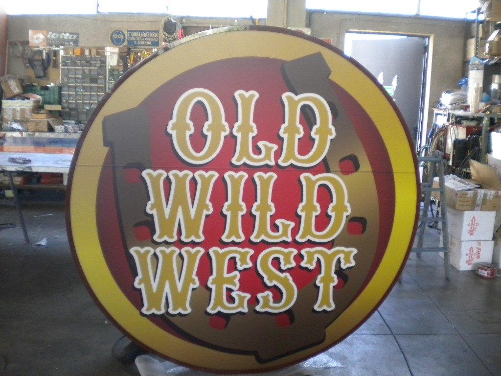 cartello luminoso old wild west