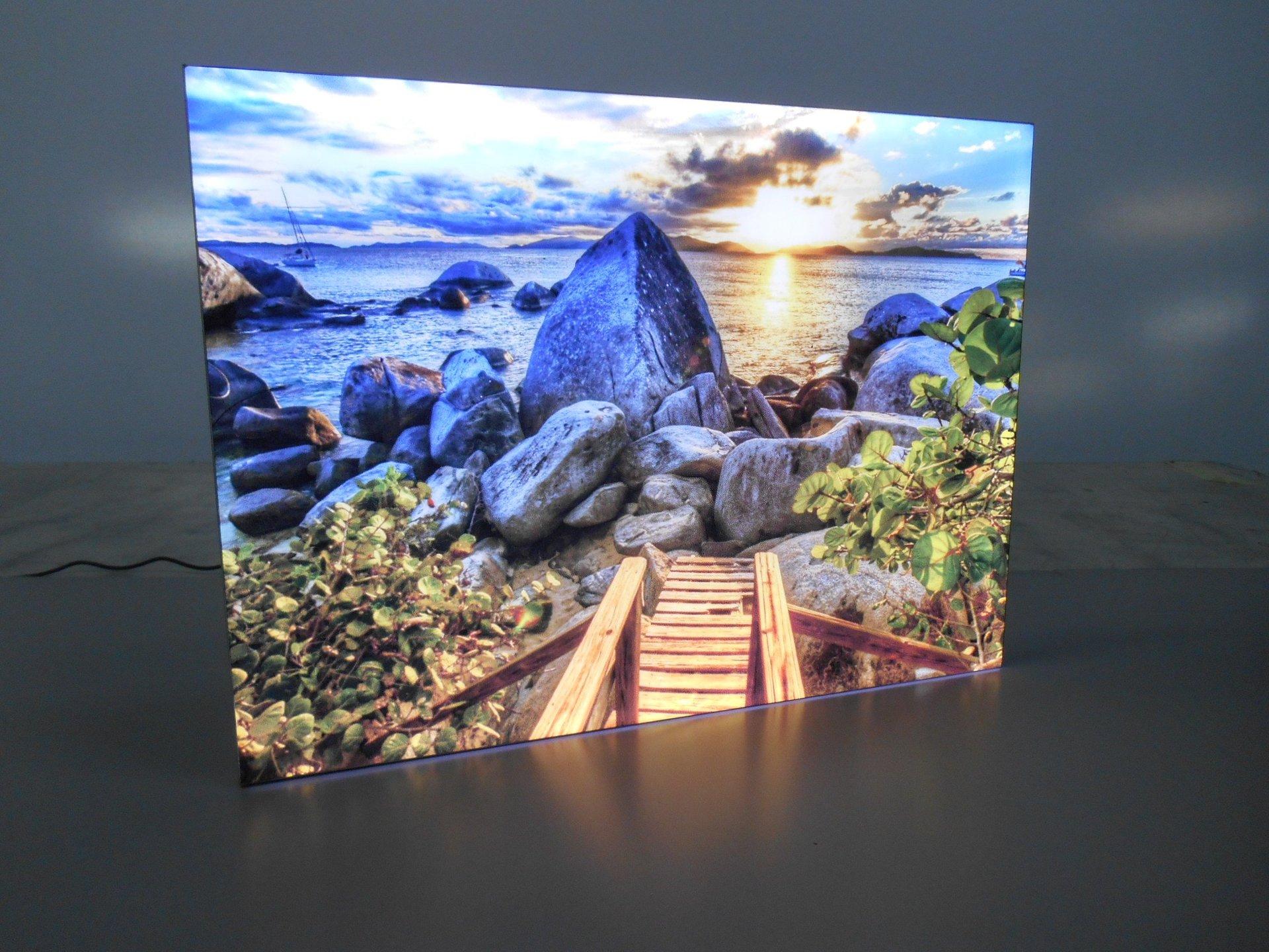 quadro luminoso di paesaggio di mare