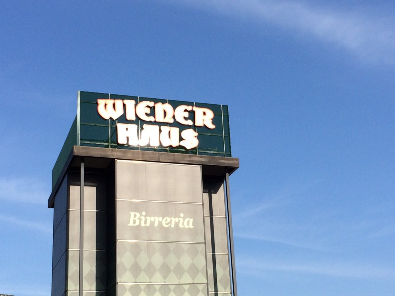 insegna wiener haus su grande palazzo cittadino