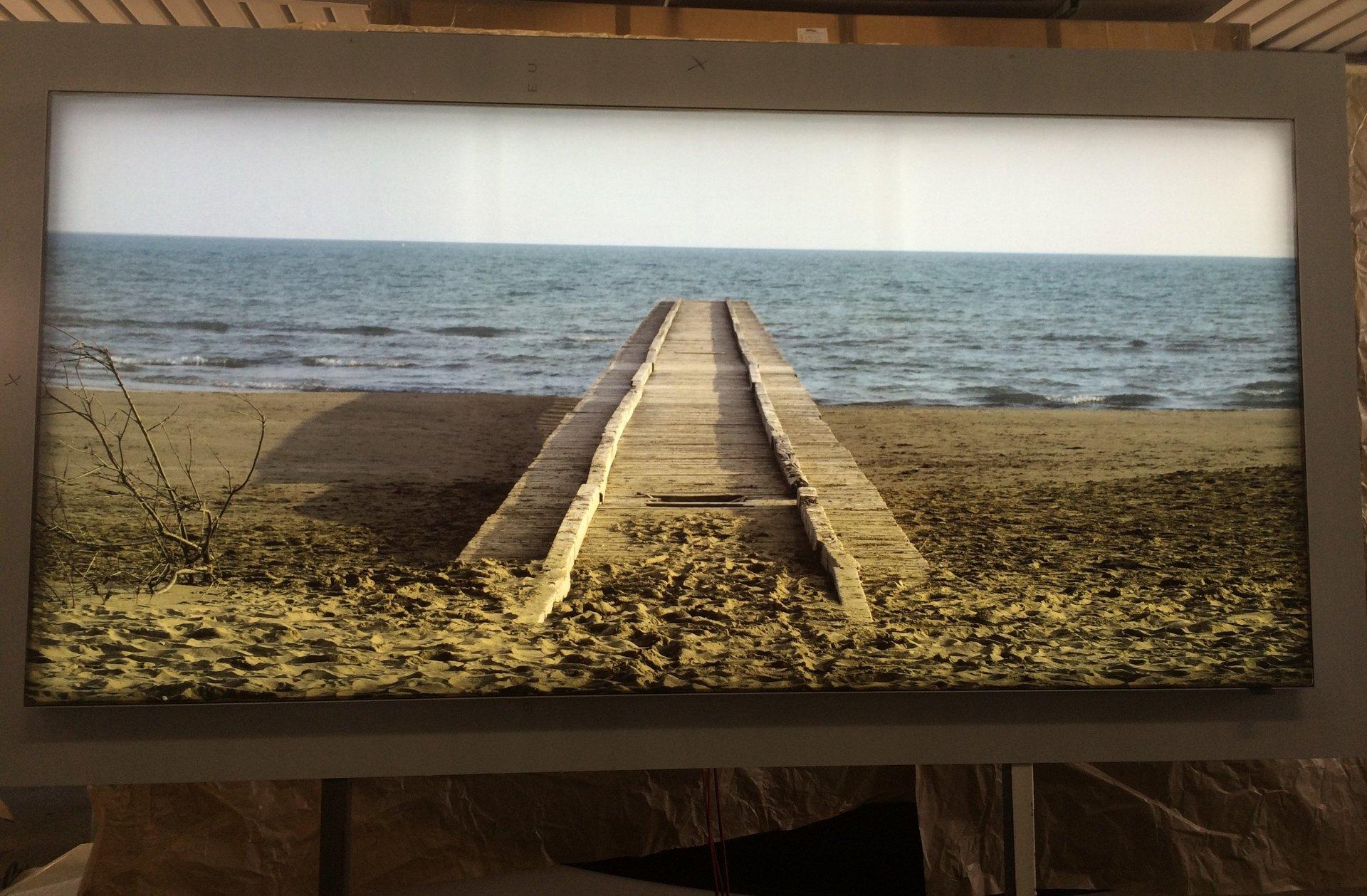 quadro luminoso di spiaggia