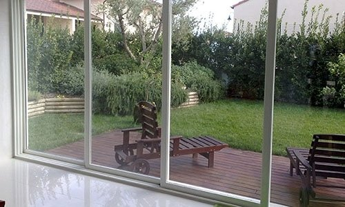 vetrate a 4 ante alluminio bianco