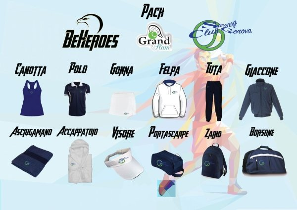 GrandSlam donna Abbigliamento Sporting Club Genova