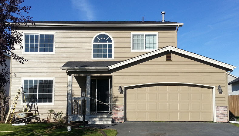 Exterior painting and drywall repair in Anchorage, AK