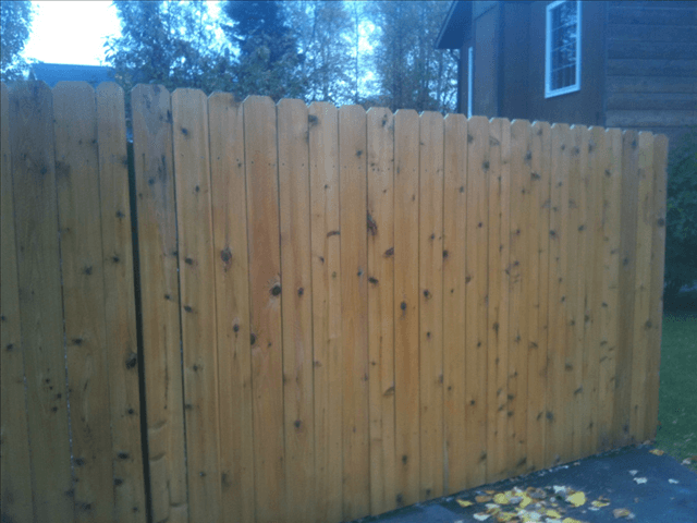 Quality refinished wooden fence Anchorage AK by A & G Painting