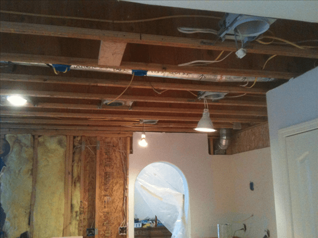 Interior room under construction by A & G Painting in Anchorage, AK