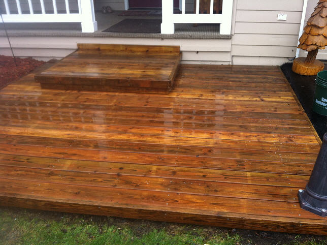 Professionally stained deck in Anchorage, AK by A & G Painting
