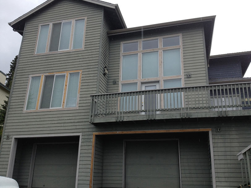 Picture of exterior painting in anchorage, ak prior to working with A & G Painting.