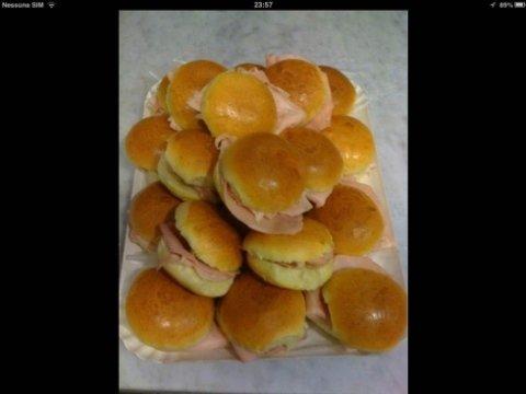 panini artigianali con prosciutto