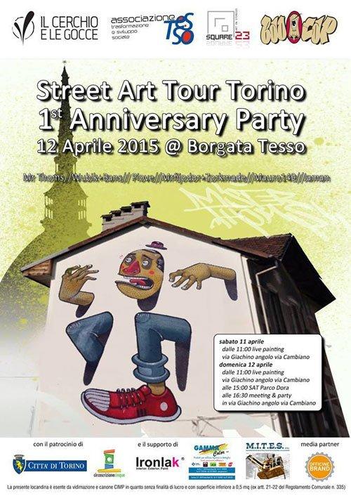 un volantino dello Street Art Tour Torino