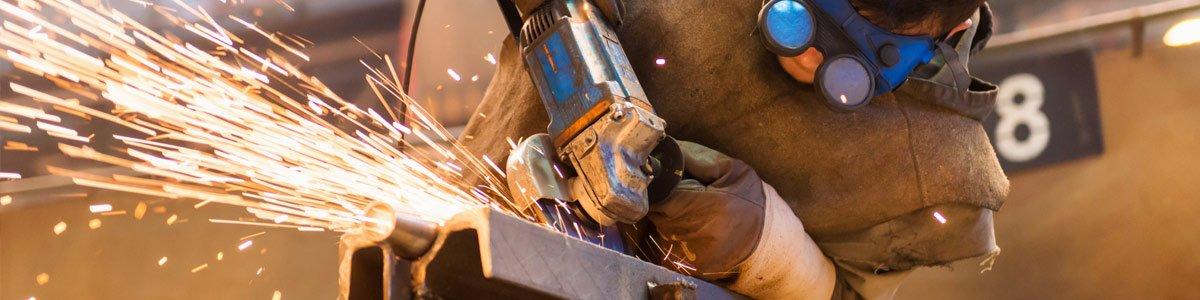 d and b pressed metal man at work