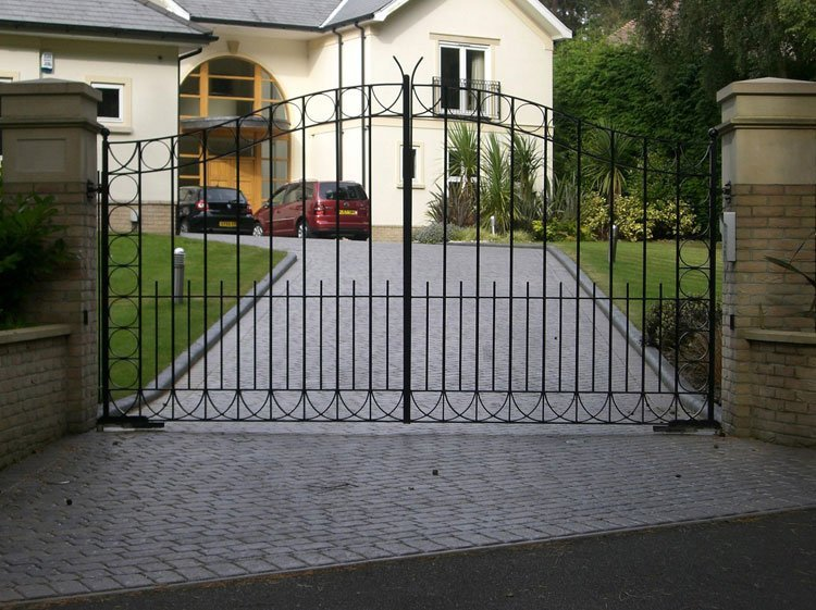 Metal entrance gates