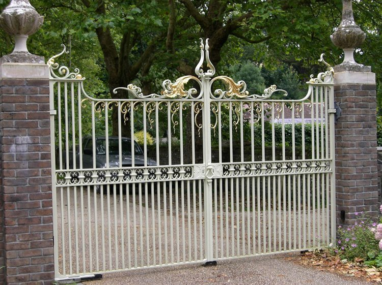 Traditional ornamental metal gates