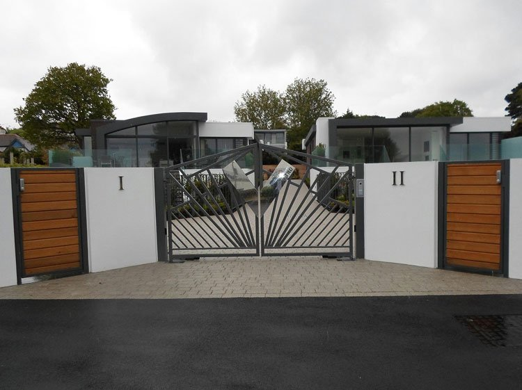 Contemporary automatic entrance gates