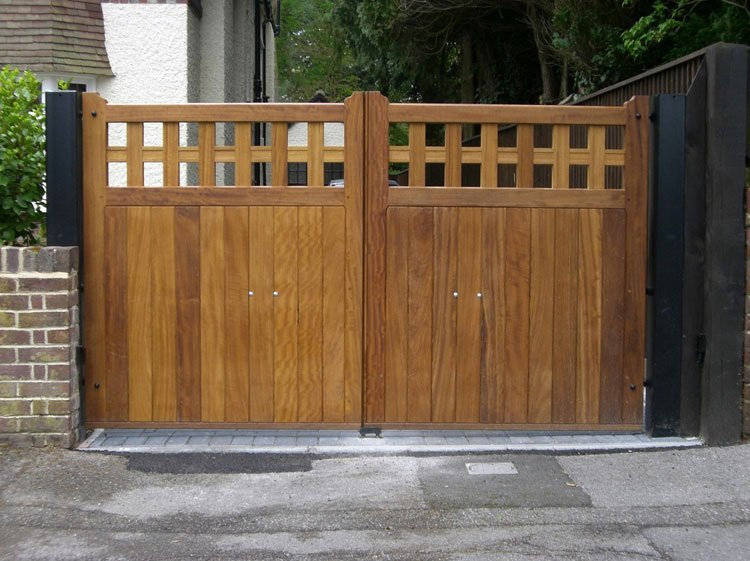 Ornamental wooden entrance gates