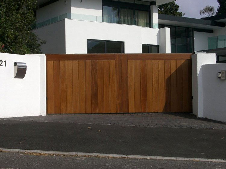 Solid wood gates