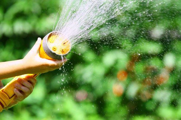 Water sprinklers in Kailua, HI