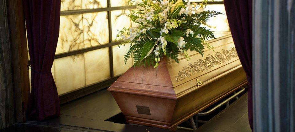 A beautiful coffin