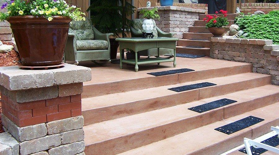 Colored Concrete Steps - Morton, IL