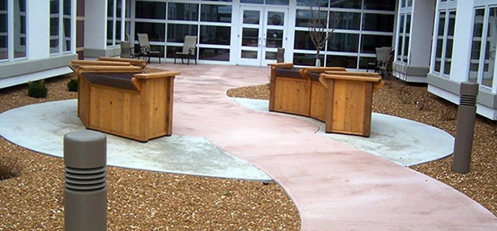 Colored Concrete Steps - Bloomington, IL