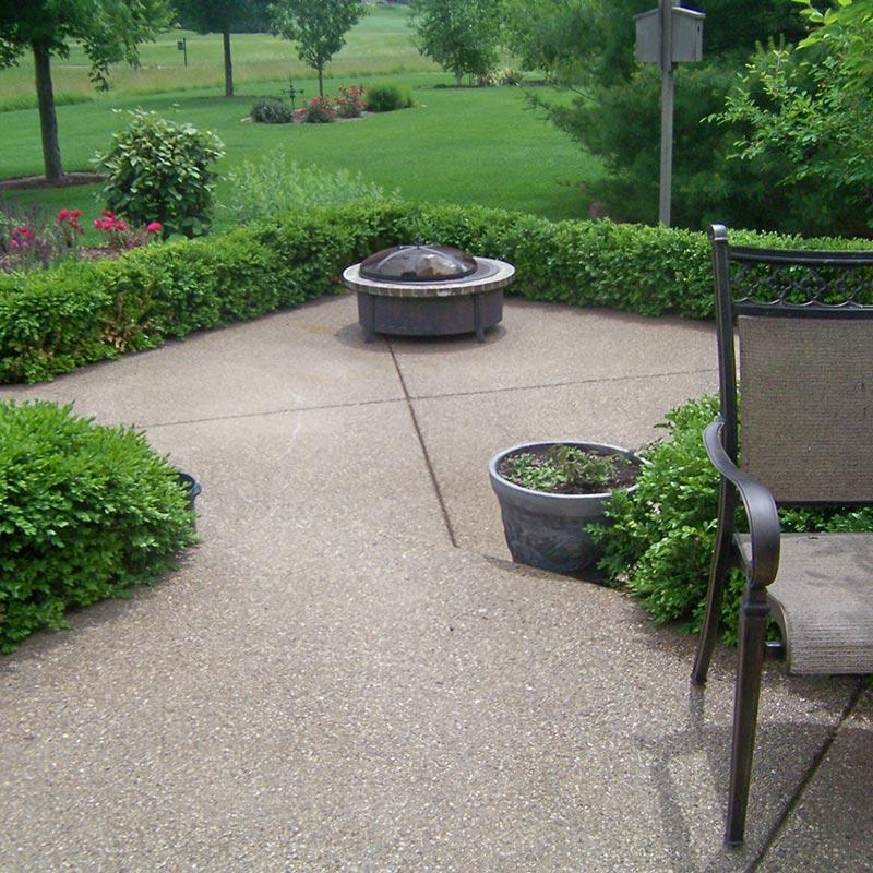 Colored Concrete Patio - Bloomington, IL