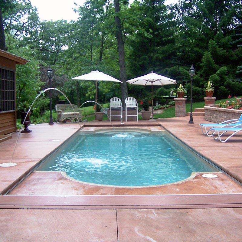 Decorative Concrete Pool Deck - Peoria, IL