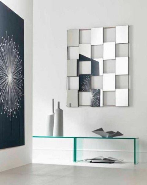 specchi con supporto metallico