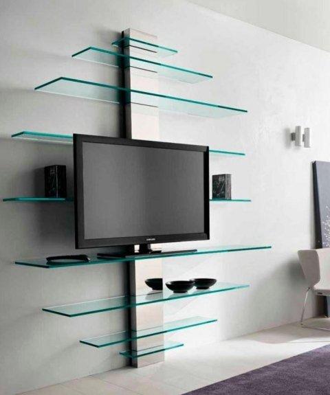 libreria e porta tv in vetro