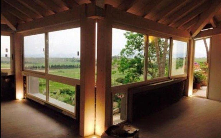 pareti vetro e alluminio