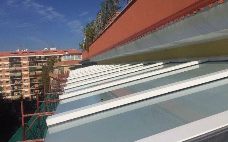 tettoia alluminio
