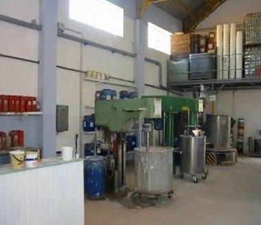 Laboratorio di produzione colori