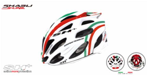 casco bici bianco con strisce