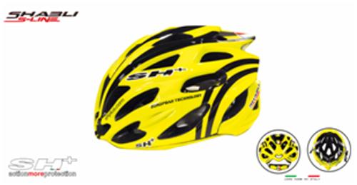 casco bici giallo con strisce nere