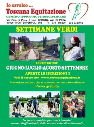 Settimane estive al Centro Ippico Toscana Equitazione