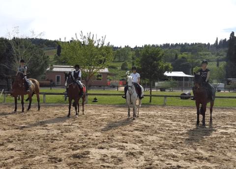 Scuola equitazione, Maneggio