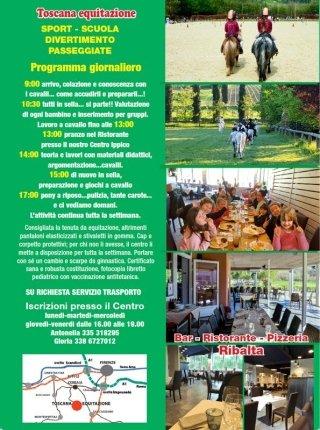 Centri estivi al Centro Ippico Toscana Equitazione