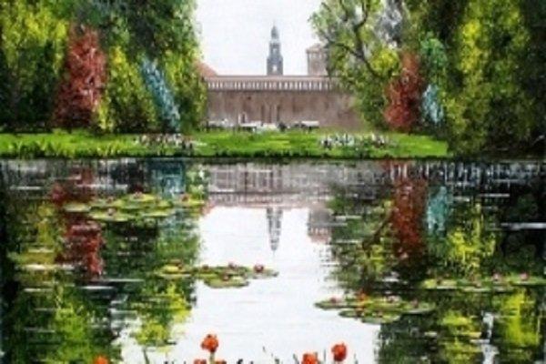 foto scenica di un laghetto