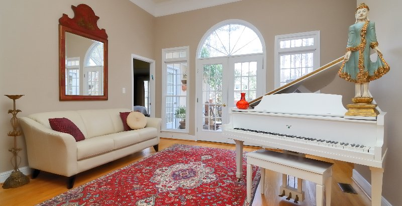 Piano in a home