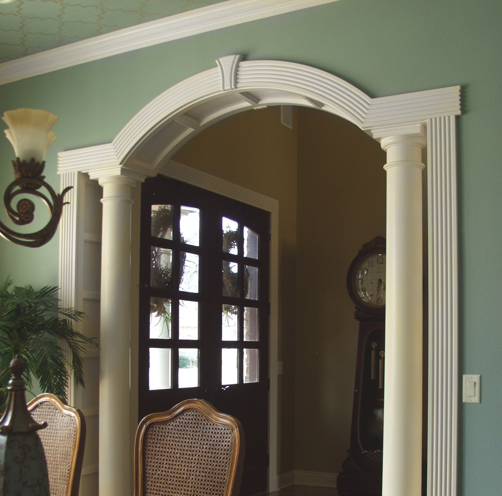 Arched Crown Moulding Horizontal Extensions Interior Columns And Arch Moulding