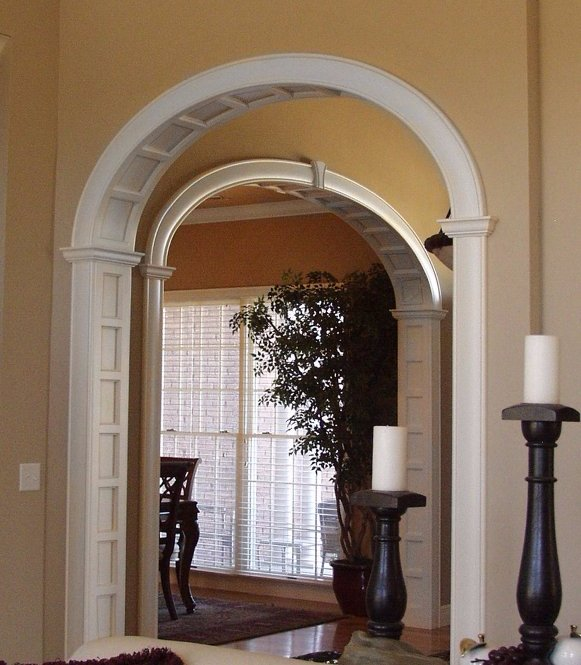 Bow Window Curved Window Seating Narrow Tall Fixed: Vaulted Interior Archway Moulding